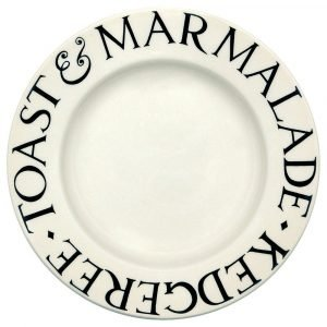 """Emma Bridgewater Black Toast 8 1/2"""" Plate"""