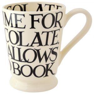 Emma Bridgewater Black Toast All Over Writing Cocoa Mug
