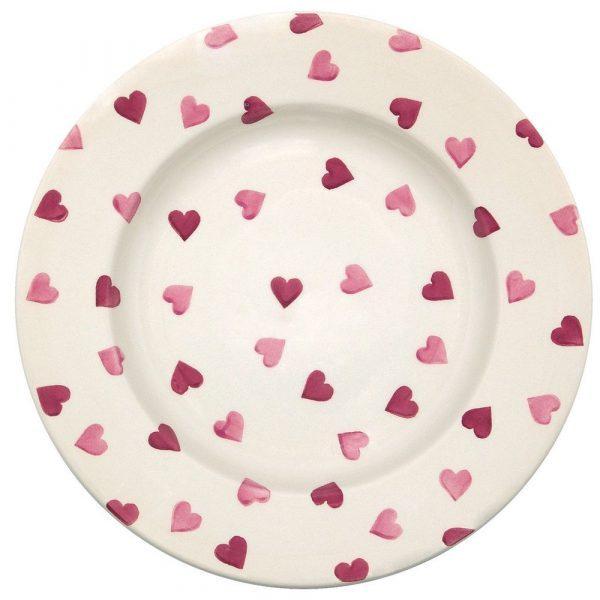 "Emma Bridgewater Pink Hearts 10 1/2"" Plate"
