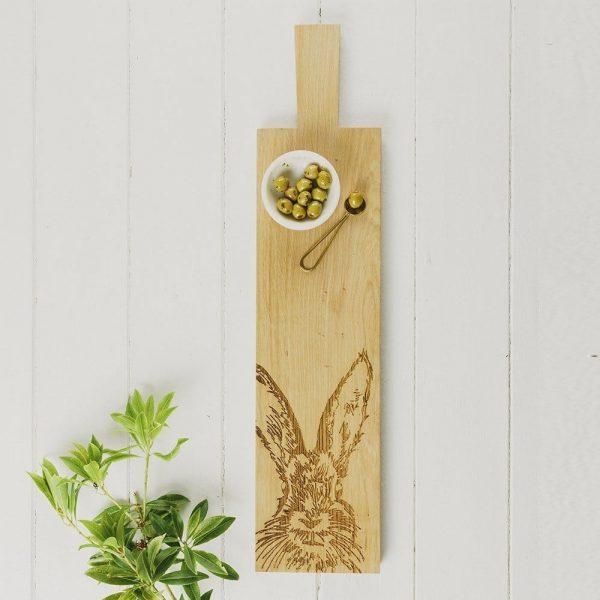Long Hare Oak Serving Paddle - Scottish Oak
