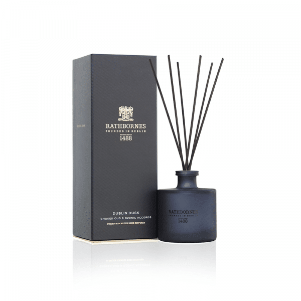 Reed Diffuser - 'Dublin Dusk' Smoked Oud & Ozone Accords