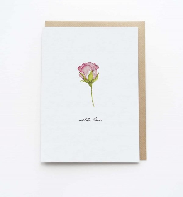 Watercolour With Love Card - Thorns & Roseway
