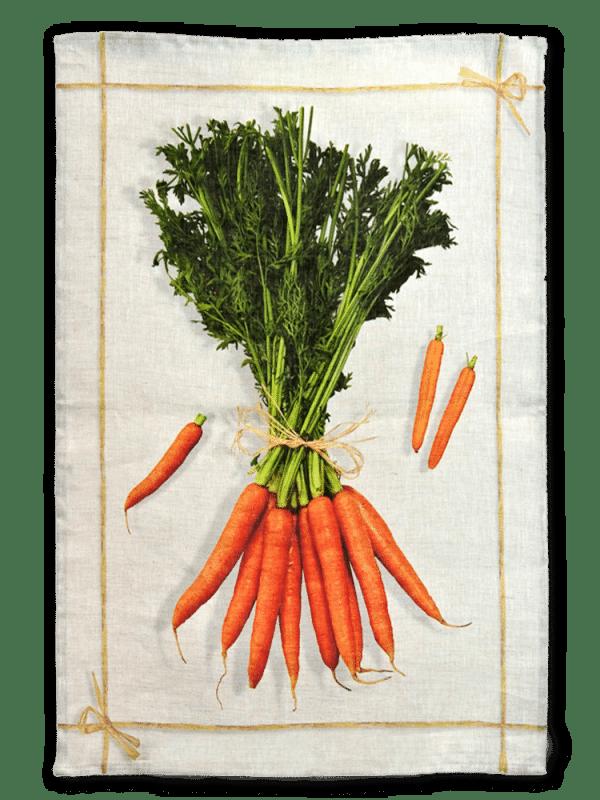 Carrots - Linen Tea Towel - Made in Italy