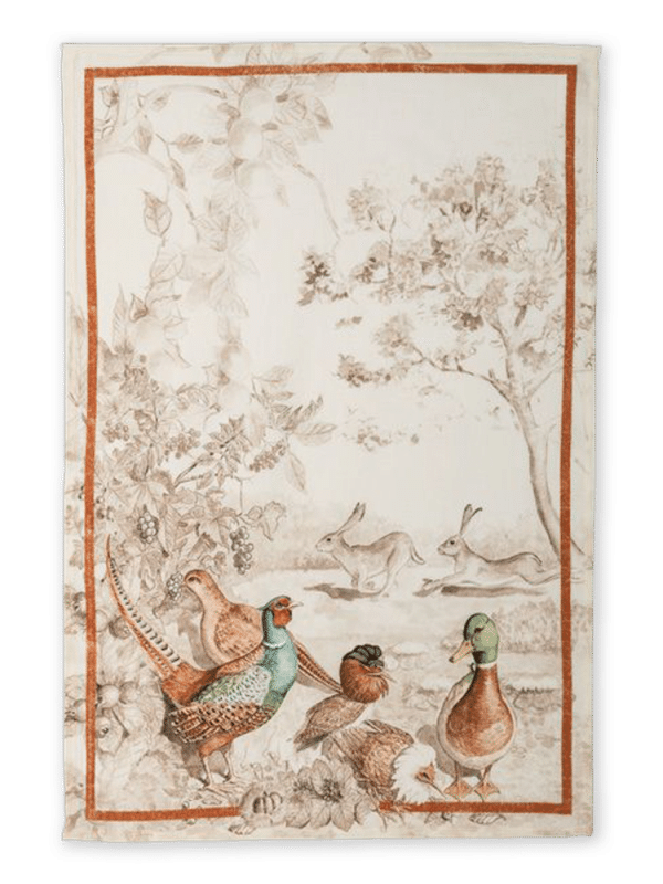 Pheasant - Linen Tea Towel - Made in Italy