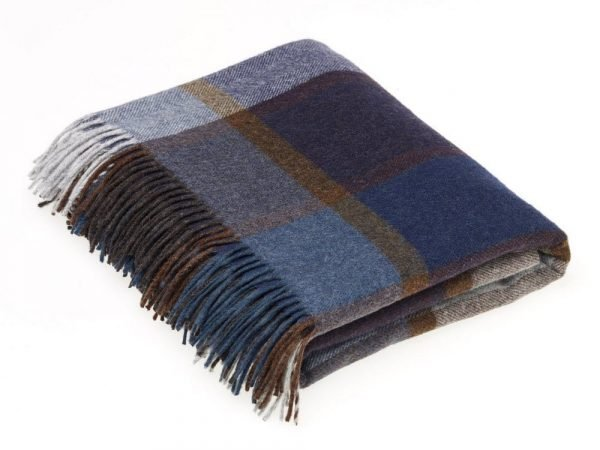 Multicolour Collection Throw - Pateley Blue - Bronte by Moon