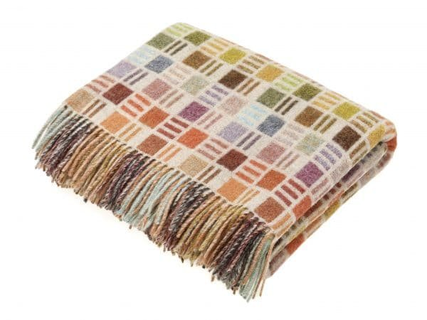 Multicolour Collection Throw - Multi Ribbon - Bronte by Moon
