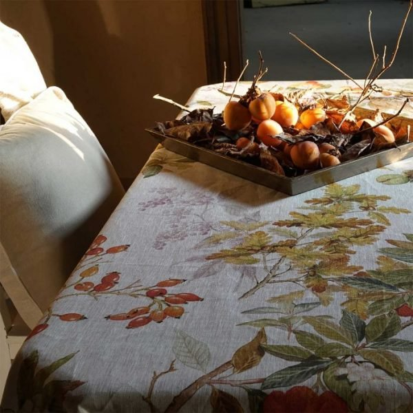 Arbousier Tablecloth 100% Linen Made in Italy