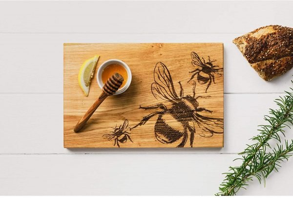 Bumble Bee Serving Board - Scottish Oak