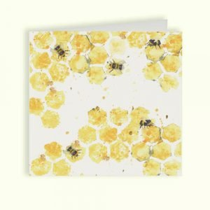 Bees Greetings Card - Kensington Collection by Kate of Kensington