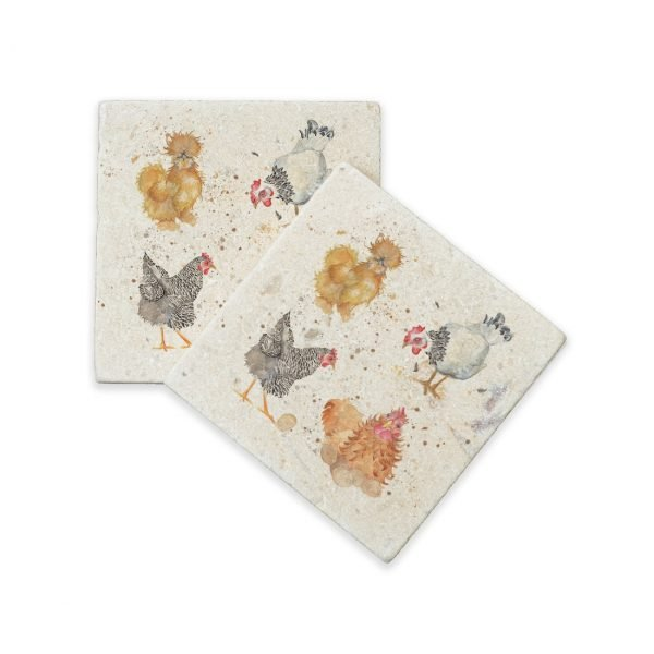 British Hens Collection Coasters Kate of Kensington