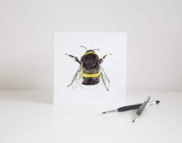 Thorns & Roseway Card Watercolour Bee