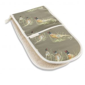 Pheasant Double Oven Glove by Mosney Mill