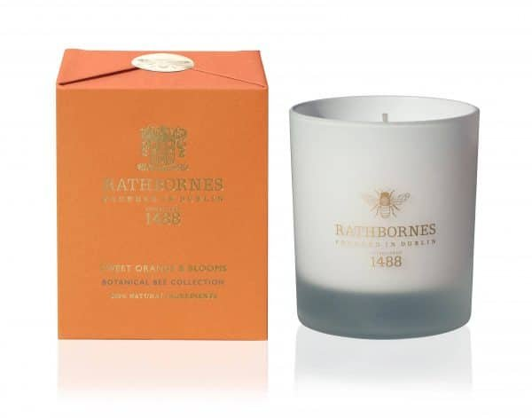 Sweet Orange & Blooms Candle - Botanical Bee Collection by Rathbornes of Dublin