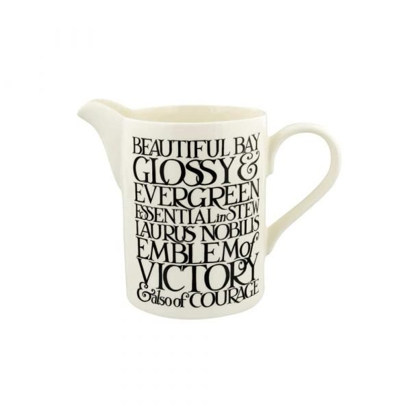 Emma Bridgewater Black Toast Beautiful Bay Medium Straight Jug