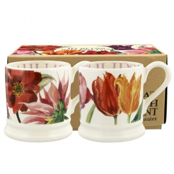 Emma Bridgewater Flowers Set Of 2 1/2 Pint Mugs