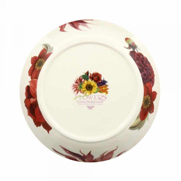 Emma Bridgewater Flowers Red & Pink Dahlias Medium Pasta Bowl