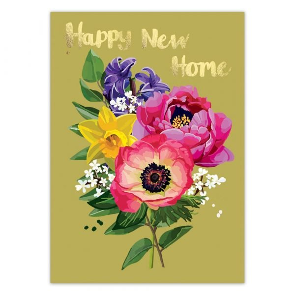 Happy New Home Foil Greetings Card By Sarah Kelleher