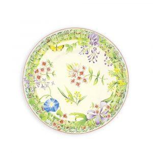 Vent de Fleurs Flate Plate - by Lunéville of St Clement, France