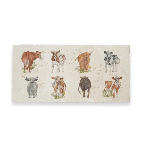 Cows Sharing Platter - British Collection by Kate of Kensington