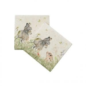 Donkey Foal & Piglet Coasters (pair) – Country Companions by Kate of Kensington